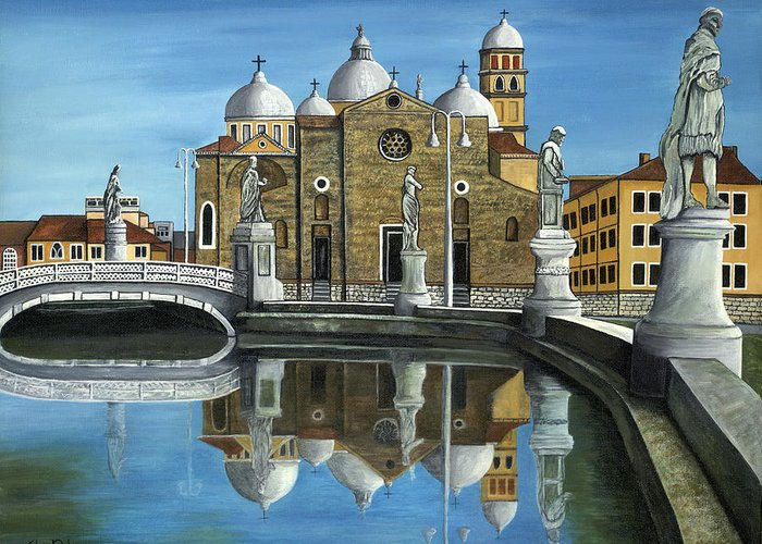 Landscape Greeting Card featuring the painting Veneto by SheRok Williams