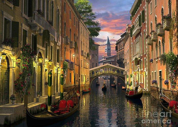 Italian Landscapes Digital Art Greeting Cards