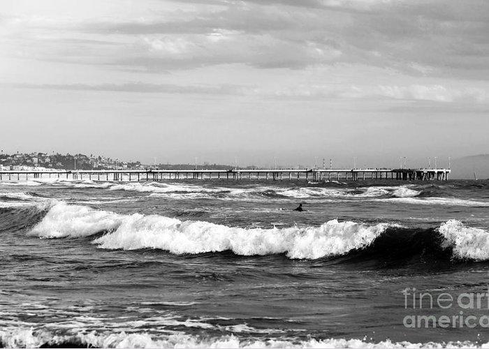 Venice Beach Waves I Greeting Card featuring the photograph Venice Beach Waves IIi by John Rizzuto