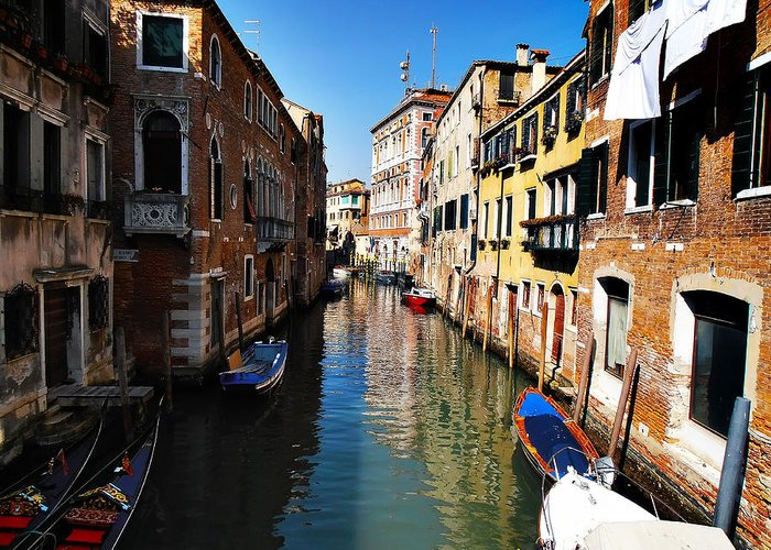 Venice Greeting Card featuring the photograph Venice Canal by Bill Cannon
