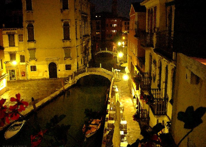 Italy Greeting Card featuring the photograph Venitian Glow Due by Mark Janeck