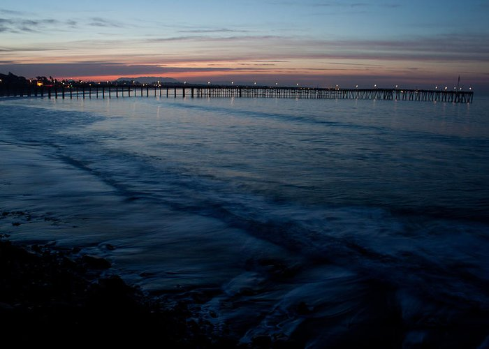 Ventura Greeting Card featuring the photograph Ventura Pier Sunrise by John Daly