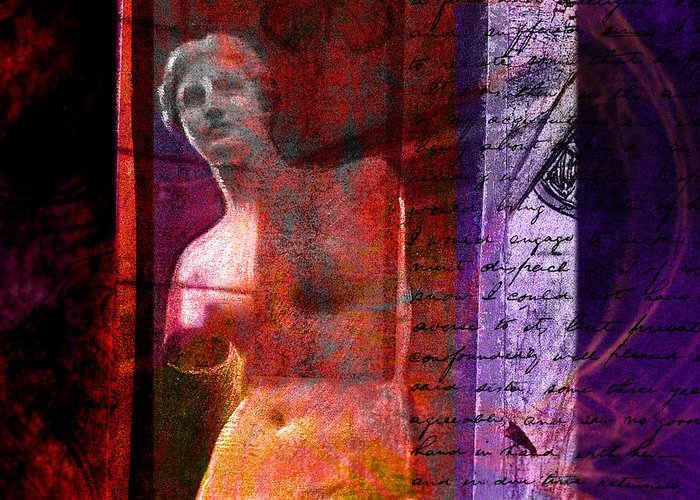 Chris Bradley Greeting Card featuring the mixed media Venus De Milo by Chris Bradley