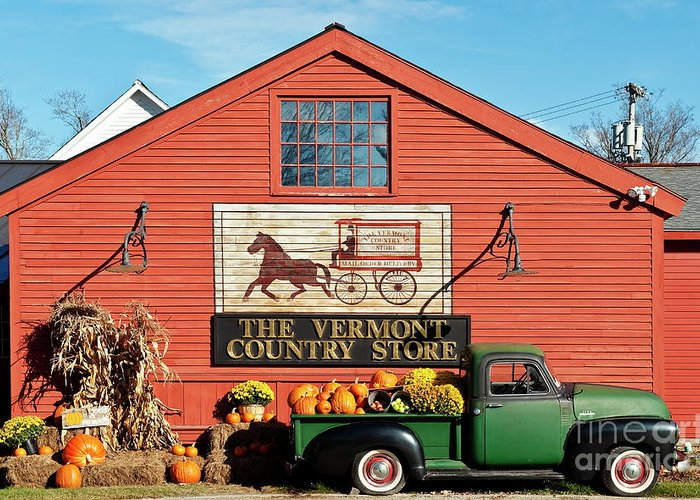 Americana Greeting Card featuring the photograph Vermont Country Store by John Greim