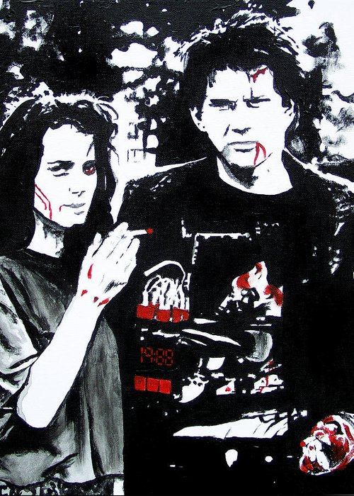 Heathers Greeting Card featuring the painting Veronica And J.d. by Jack Irons