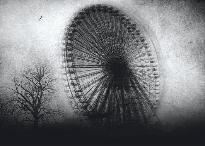 Black And White Greeting Card featuring the photograph Vertigo by Taylan Apukovska