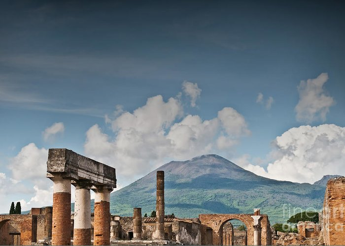Pompeii Greeting Card featuring the photograph Vesuvius by Marion Galt