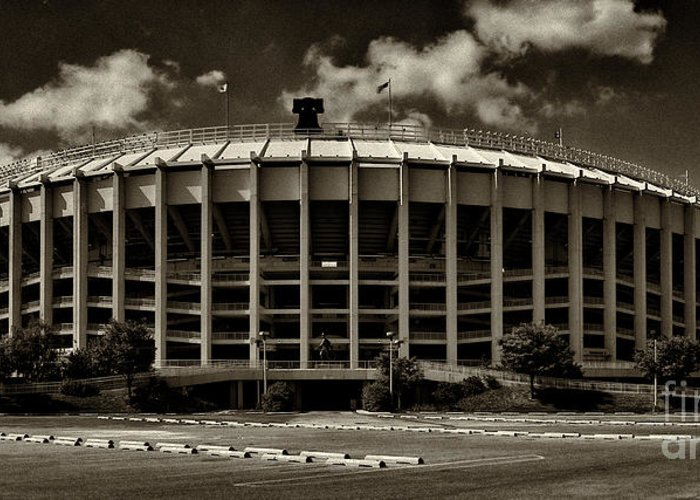 Veterans Stadium Greeting Card featuring the photograph Veterans Stadium 1 by Jack Paolini