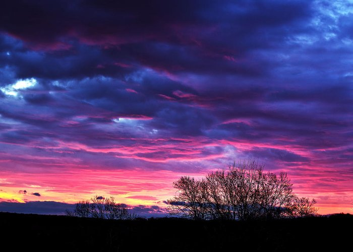 Tim Buisman Greeting Card featuring the photograph Vibrant Sunrise by Tim Buisman