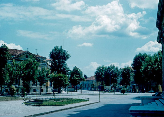 Vicenza Greeting Card featuring the photograph Vicenza Italy 3 1962 by Cumberland Warden