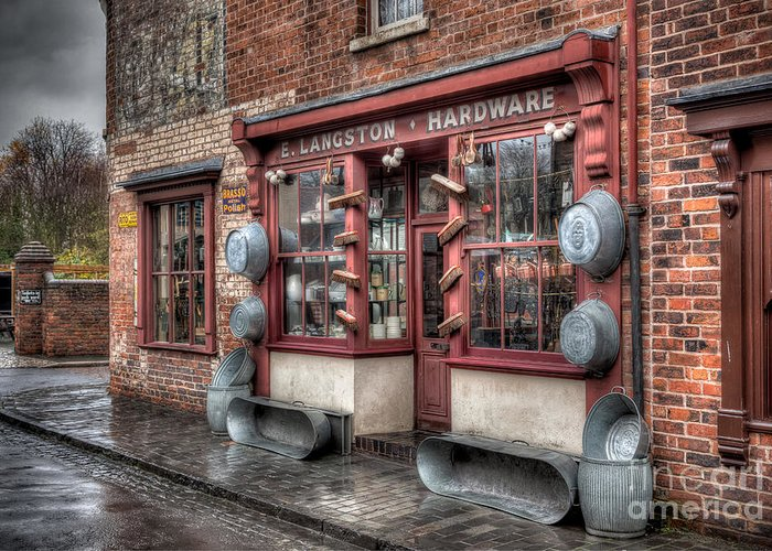 Architecture Greeting Card featuring the photograph Victorian Hardware Store by Adrian Evans