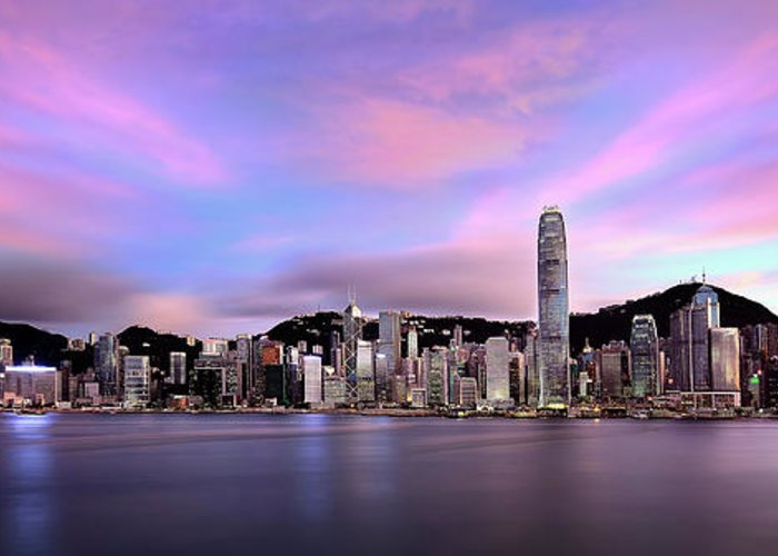 Tranquility Greeting Card featuring the photograph Victoric Harbour, Hong Kong, 2013 by Joe Chen Photography