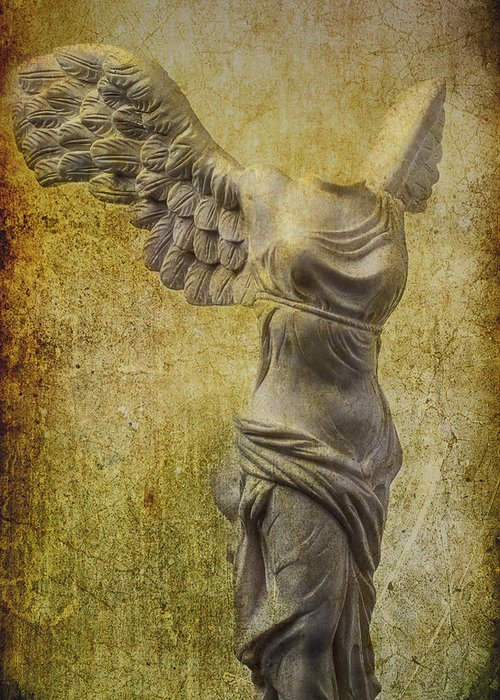 Winged Victory Greeting Card featuring the photograph Victory Abstract by Garry Gay