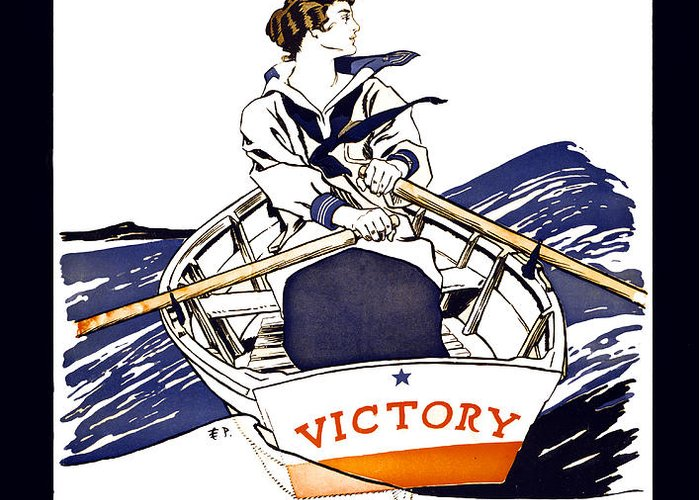 world War Greeting Card featuring the photograph Victory Girls Of W W 1   1918 by Daniel Hagerman