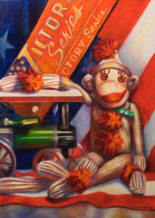 4th Of July Greeting Card featuring the painting Victory by Shannon Grissom