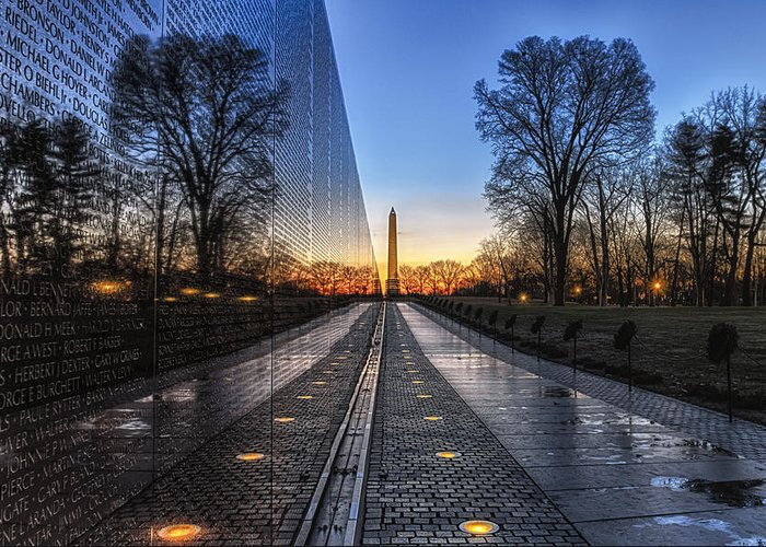 Vietnam Veterans Memorial Greeting Card featuring the photograph Vietnam Veterans Memorial by Daniel Potter
