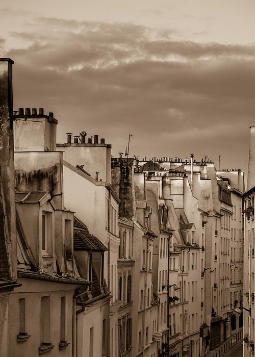 France Greeting Card featuring the photograph View Down Rue Beauregard by W Chris Fooshee