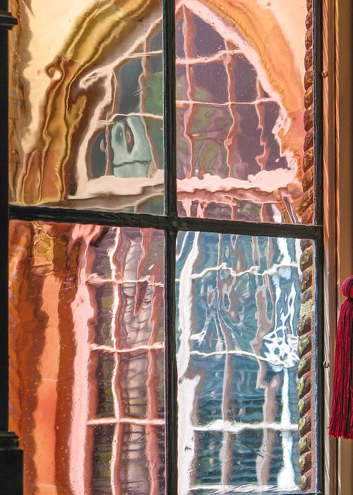 Window Greeting Card featuring the photograph View From Another Window by Carolyn Marshall