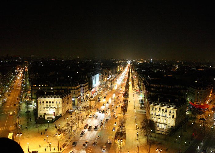 Paris Greeting Card featuring the photograph View From Arc De Triomphe - Paris France - 011318 by DC Photographer
