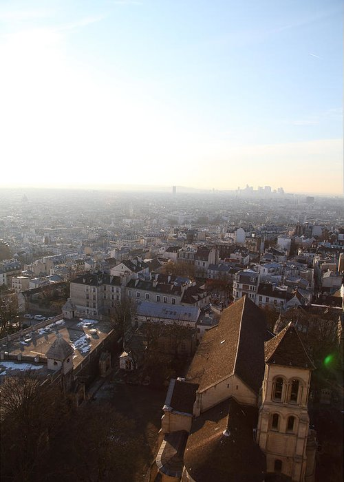 And Greeting Card featuring the photograph View From Basilica Of The Sacred Heart Of Paris - Sacre Coeur - Paris France - 011316 by DC Photographer
