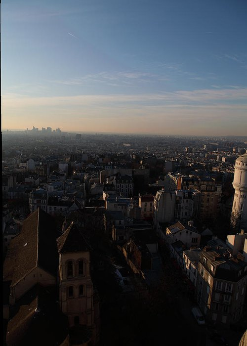 And Greeting Card featuring the photograph View From Basilica Of The Sacred Heart Of Paris - Sacre Coeur - Paris France - 011319 by DC Photographer