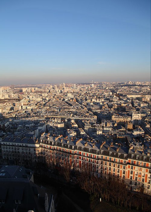 And Greeting Card featuring the photograph View From Basilica Of The Sacred Heart Of Paris - Sacre Coeur - Paris France - 011328 by DC Photographer