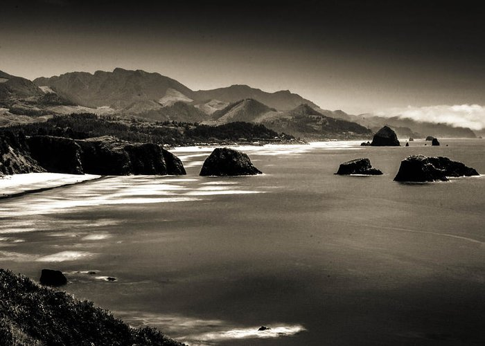 Oregon Coast Greeting Card featuring the photograph View From Ecola by Paul Haist