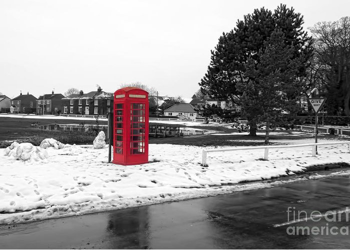 Box Greeting Card featuring the photograph Village Green by David Hollingworth