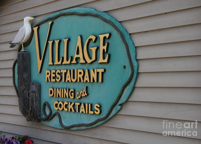 Gull Greeting Card featuring the photograph Village Restaurant by Christiane Schulze Art And Photography