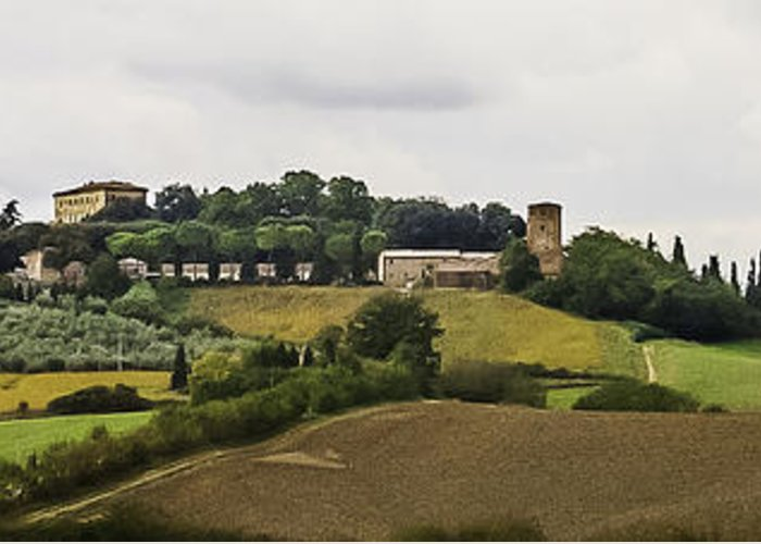 2005 Greeting Card featuring the photograph Ville Di Corsano Near Siena - Tuscany Italy by Karen Stephenson