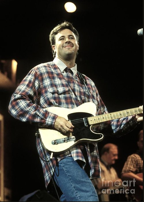Performing Greeting Card featuring the photograph Vince Gill by Concert Photos