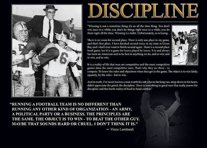 Discipline Greeting Cards