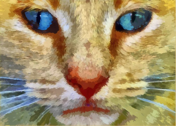 Cat Greeting Card featuring the photograph Vincent by Michelle Calkins
