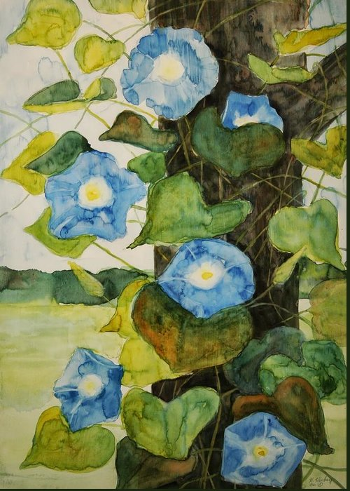 Greeting Card featuring the painting Vine by Helen Hickey