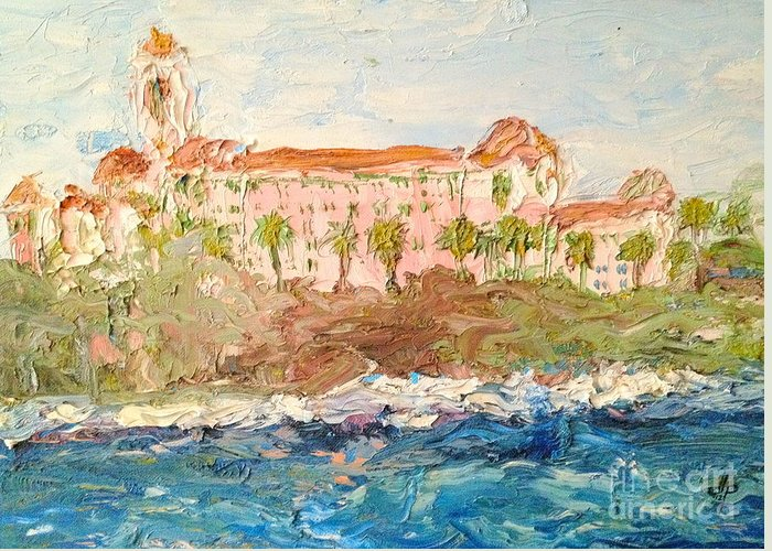Vinoy Greeting Card featuring the painting Vinoy Basin by Diane Phelps