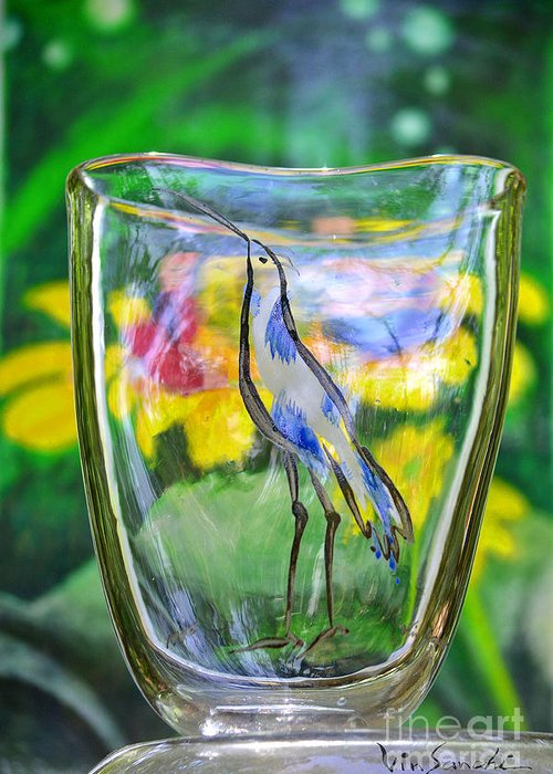 Nature Greeting Card featuring the glass art Vinsanchi Glass Art-2 by Vin Kitayama