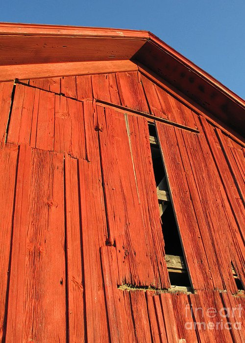 Barn Greeting Card featuring the photograph Vintage Barn Aglow by Ann Horn