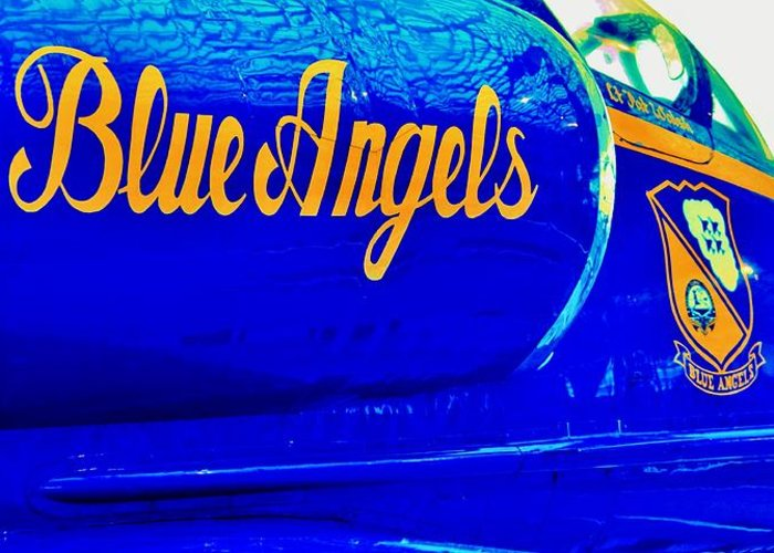 Blue Angels Greeting Card featuring the photograph Vintage Blue Angel by Benjamin Yeager