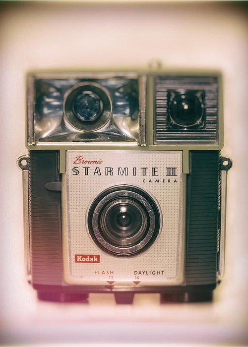 Brownie Greeting Card featuring the photograph Vintage Brownie Starmite Camera by Steve Stephenson
