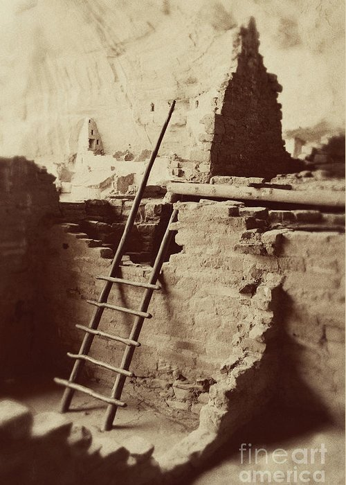 Photography Greeting Card featuring the photograph Vintage Cliff Dwelling by Jackie Farnsworth