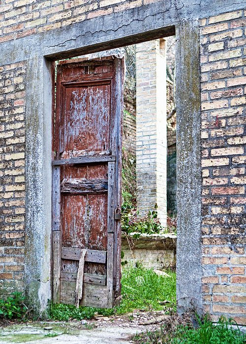 Door Greeting Card featuring the photograph Vintage Doorway by Susan Schmitz