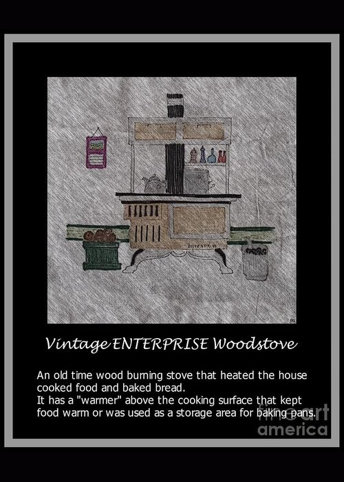 Vintage Enterprise Woodstove Greeting Card featuring the photograph Vintage Enterprise Woodstove by Barbara Griffin