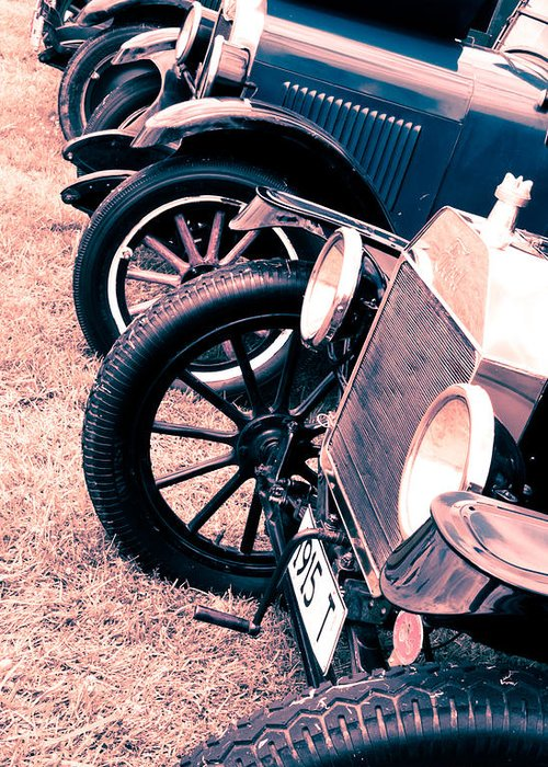 Ford Model T Greeting Card featuring the photograph Vintage Fords by Phil 'motography' Clark