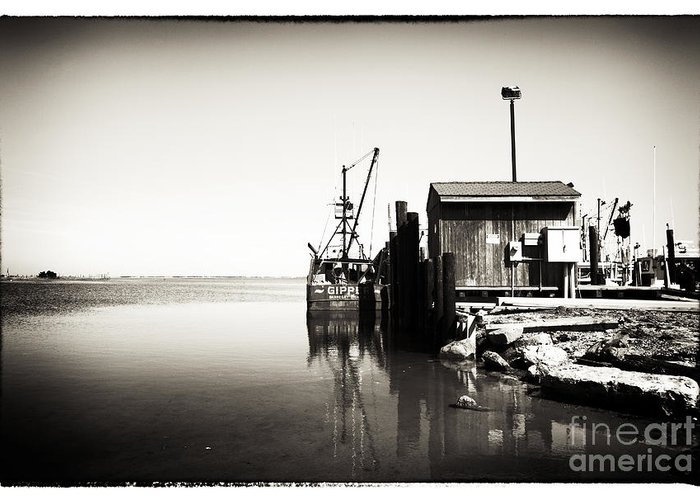 Vintage Lbi Bay Greeting Card featuring the photograph Vintage Lbi Bay by John Rizzuto