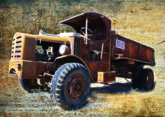Mack Trucks For Sale >> Vintage Mack Trucks Greeting Card For Sale By Steve Mckinzie