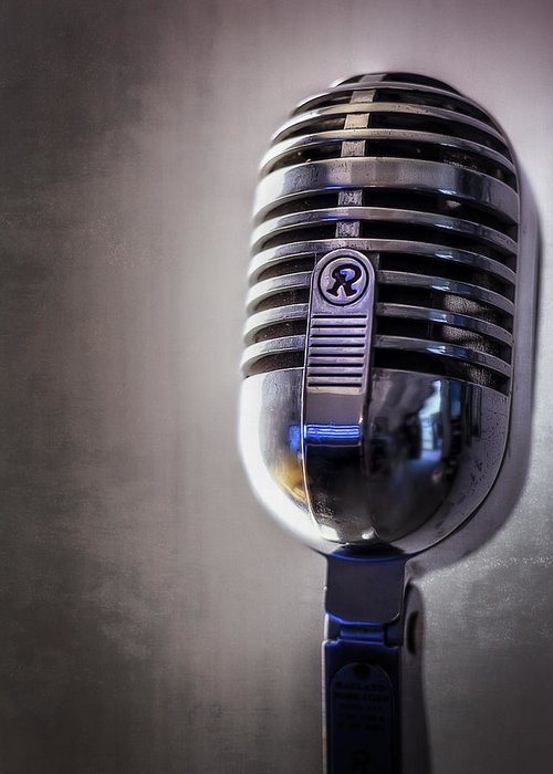 Mic Greeting Card featuring the photograph Vintage Microphone 2 by Scott Norris
