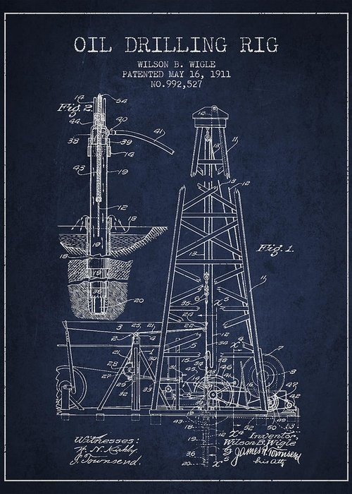 Oil Well Greeting Cards