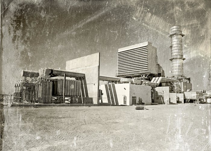 Architecture Greeting Card featuring the photograph Vintage Power by Paul Fell