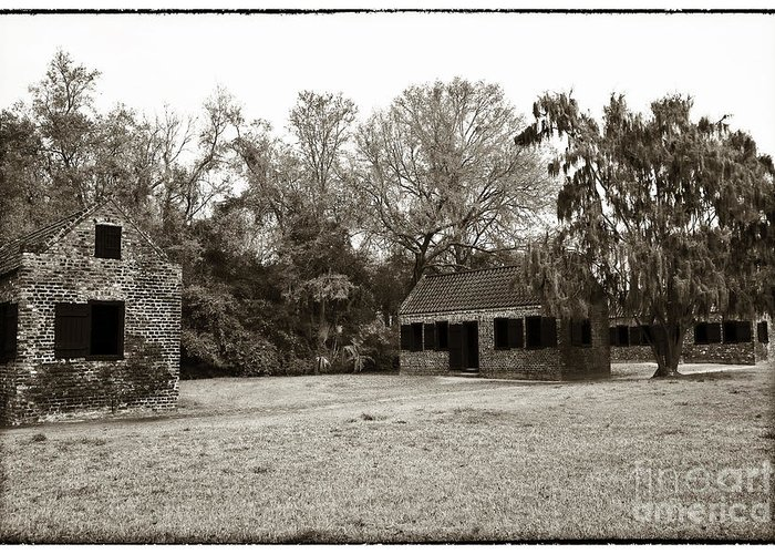 Vintage Slave Quarters Greeting Card featuring the photograph Vintage Slave Quarters by John Rizzuto