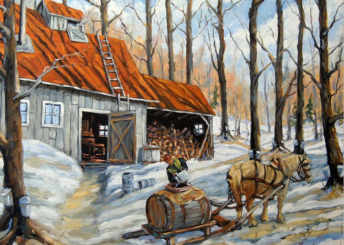 Canadian Rural Scene Created By Richard T Pranke Greeting Cards
